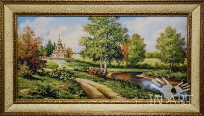 Картина Дорога вдоль реки F- 027 - фото