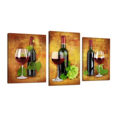 Модульная картина Вино и виноград №527 из 3 частей - фото