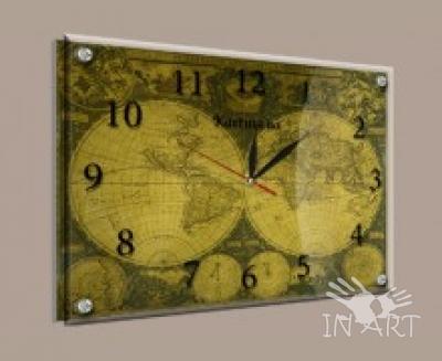 Часы под стеклом karta1 - фото