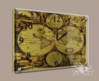 Часы под стеклом karta 2 - фото
