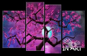 Модульная картина Дерево Сакуры № 08 из 4 частей