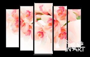Модульная картина Цветущая ветка №13 из 5 частей