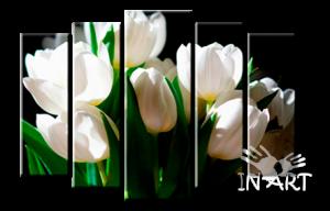 Модульная картина Тюльпаны №274 из 5 частей