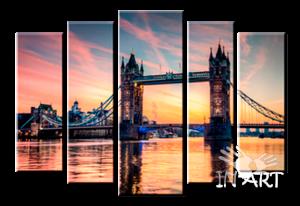 Модульная картина Мост в Великобритании G1105