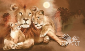 Картина Семья львов К 389