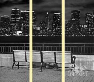 Модульная картина Ночной город  KM 19