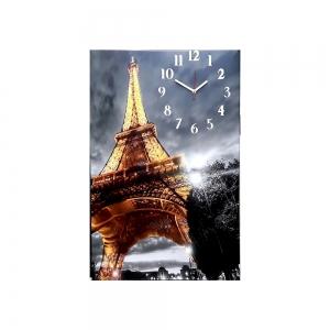 Часы холст Париж 13