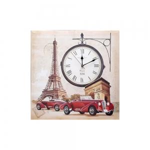 Часы холст Париж D-8