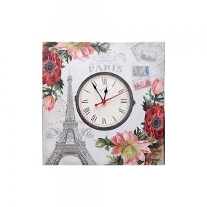 Часы холст Париж D-9