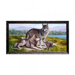 Картина Волчья семья А-600