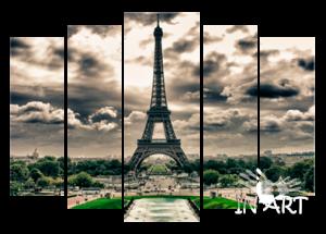 Модульная картина Париж g110 из 5 частей